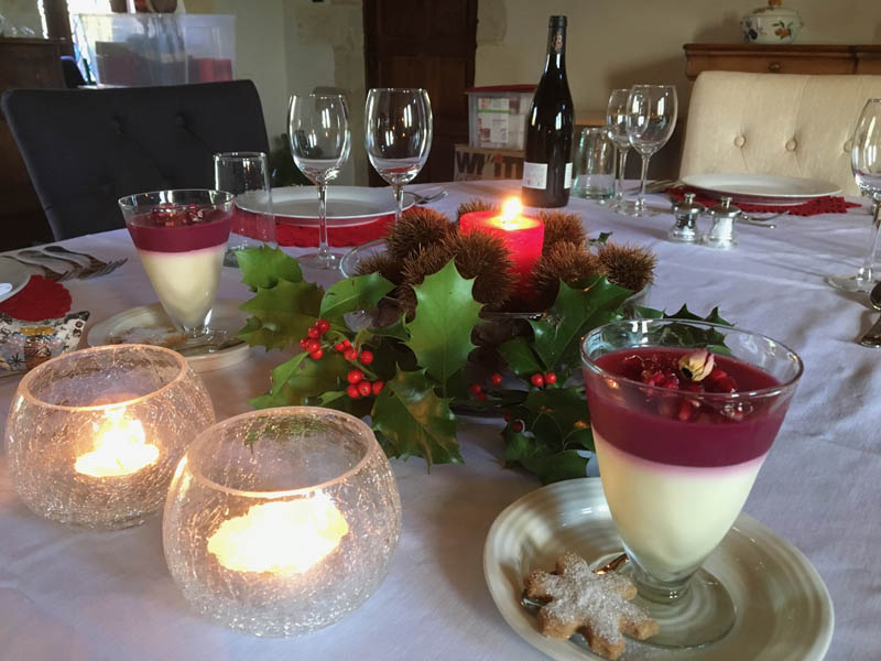Christmas dinner Loire B&B