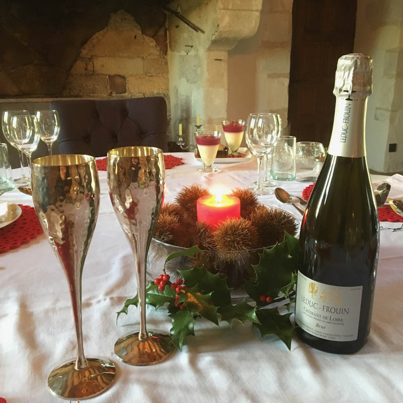Christmas dinner Loire Valley accommodation