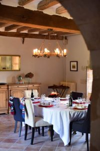 Manoir Jouralem winter dining